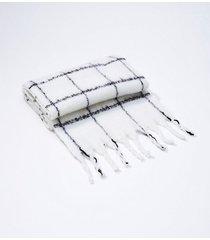 loft boucle plaid blanket scarf