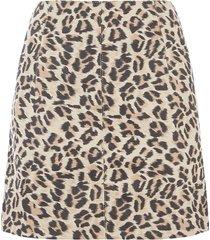 faux suede leopard skirt