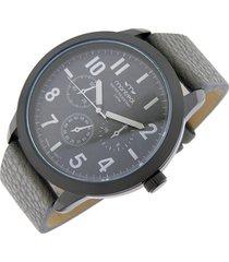 reloj gris montreal cuero