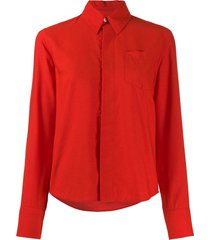 ami pointed collar shirt - red