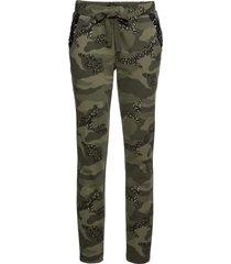 pantaloni in felpa camouflage con glitter (verde) - rainbow