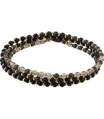 18k matte gold and gemstone agora bracelet