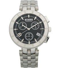 versus versace men's stainless steel bracelet watch