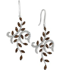 le vian chocolatier diamond vine drop earrings (1-1/2 ct. t.w.) in 14k white gold