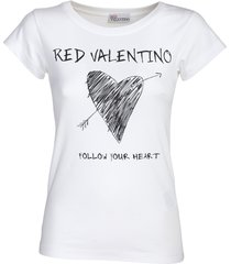 red valentino cotton jersey t-shirt