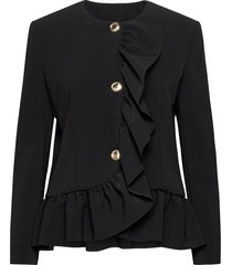 boutique moschino jacket blazers bouclé blazers zwart boutique moschino