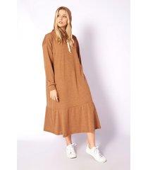 vestido camel skanda yanet