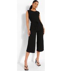 baggy culotte jumpsuit met touwtjes, black