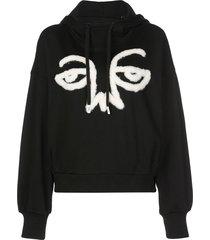 haculla signature cape hoodie - black