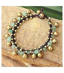 aventurine beaded bracelet, 'joyous bells' (thailand)