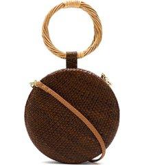 serpui straw clutch - brown