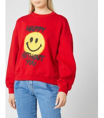 philosophy di lorenzo serafini women's happy without you sweatshirt - red - l