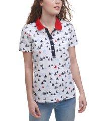 tommy hilfiger sailboats polo shirt