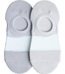 lemon women's clear coat liner socks - pack of 2
