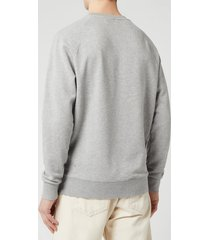 maison kitsuné men's palais royal sweatshirt - grey melange - m
