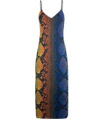 women's afrm amina sleeveless midi dress, size x-small - blue