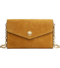 women's rag & bone atlas suede wallet on a chain - brown