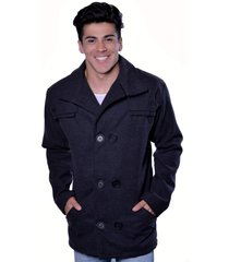 casaco blazer carbella lã batida preto - kanui