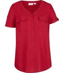 camicetta in viscosa a maniche corte (rosso) - bpc bonprix collection