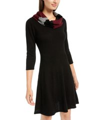 bcx juniors' scarf a-line sweater dress