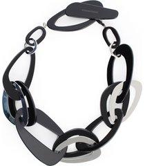 emporio armani necklace bimaterial