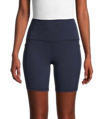 spyder women's high-waist biker shorts - outer space - size s