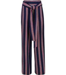 pantalón estampado rayas color azul, talla 14