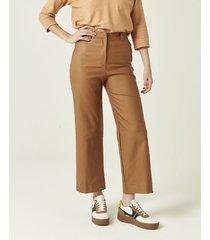 pantalón marrón portsaid engomado winehouse