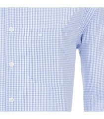 seidensticker heren overhemd blauw ruit ml7 borstzak modern fit
