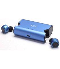 audifonos bluetooth inalámbricos, x2t bluetooth estéreo hd manos libres mini auriculares bluetooth deportivos con caja de cargador para sony iphone samsung (azul)