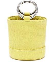 'bonsai 15' metal ring handle leather bucket bag