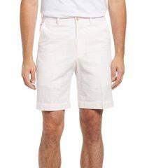 berle flat front seersucker shorts, size 33 in pink at nordstrom