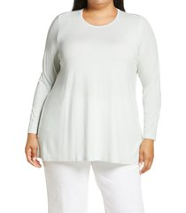 eileen fisher crewneck jersey tunic, size 2x in ynfrn at nordstrom
