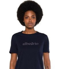 camiseta albedrío slim pecho azul