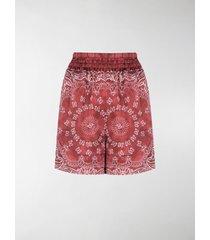 golden goose bandana-print satin shorts