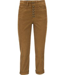 dondup koons - multi-striped velvet trousers with jewelled buttons