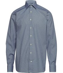geometric print shirt - contemporary fit overhemd business blauw eton