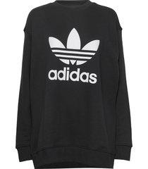 trf crew sweat sweat-shirt tröja svart adidas originals