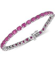 certified ruby tennis bracelet (17 ct. t.w.) in sterling silver