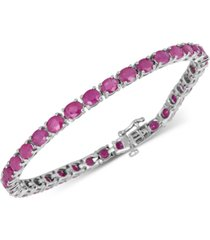 certified ruby tennis bracelet (17 ct. t.w.) in sterling silver