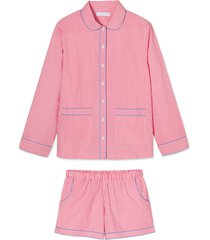 poplin piped shorts set