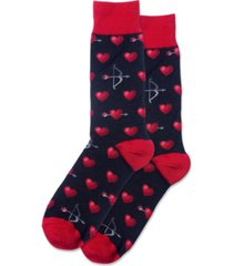 hot sox men's bow and arrow crew socks