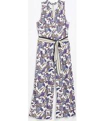 loft floral tie waist jumpsuit