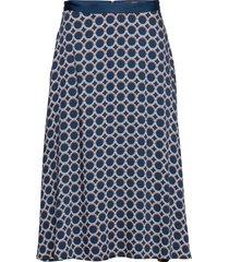 skirts light woven knälång kjol blå esprit collection