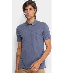 camisa polo vr básica sem friso mescla masculina