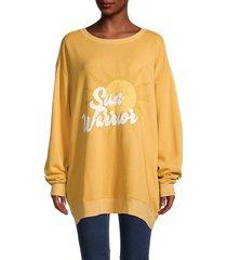 wildfox women's roadtrip oversized sweatshirt - citrine - size s