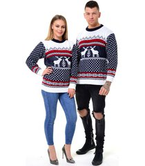 men's xmas novelty knitted christmas   reindeer sweater jumper