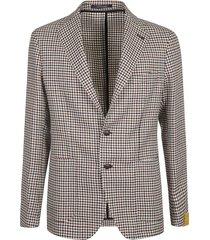 tagliatore houndstooth printed blazer
