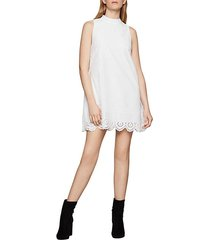 eyelet embroidered cotton dress