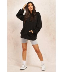 mix and match edition longline hoodie, black